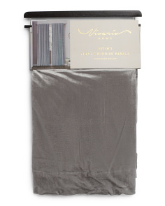 38x84 Set Of 2 Velvet Patterson Curtains