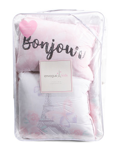 Paris Papillion Comforter & Pillow Set