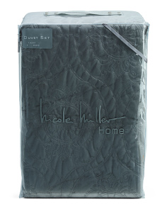 Quilted Willonah Velvet Duvet Set