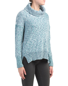 Turtleneck Chenille Pullover Sweater