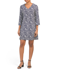Made In Usa Lexi Printed Dress