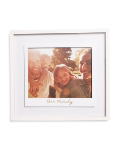 10x8 Matted Our Family Photo Frame