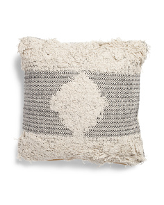 20x20 Embroidered And Textured Pillow
