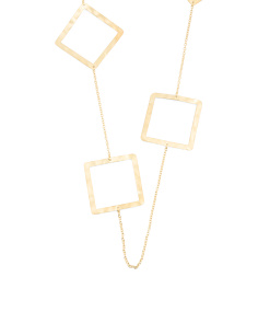 Made In Bali Gold Plated Silver Geometric Station Necklace