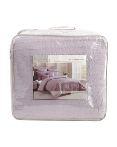 7pc Ellston Textured Comforter Set