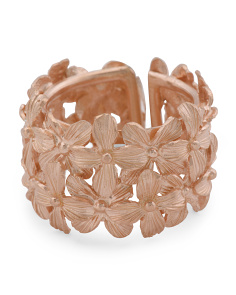 Made In Bali Rose Gold Plated Sterling Silver Flower Ring