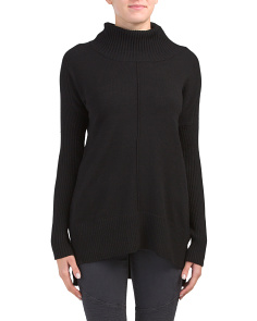 Drop Shoulder Cowl Neck Sweater Tunic