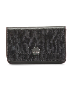 Rfid Business Chic Mini Leather Card Case