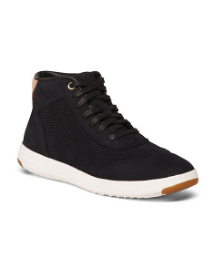 Nubuck High Top Comfort Leather Sneakers