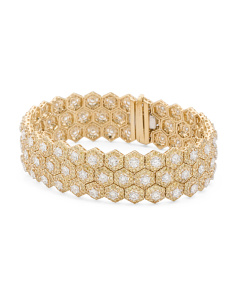 18k Gold And 15.92 Carat Diamond Bracelet