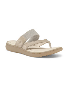 Comfort Footbed Leather Sandals