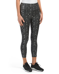 Metallic Star Print Leggings