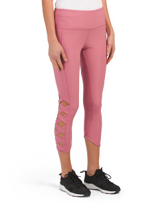 Wide Lattice Detail Leggings