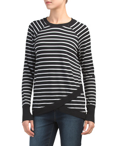 Long Raglan Sleeve French Terry Top