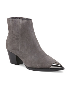 Pointy Toe Suede Ankle Booties