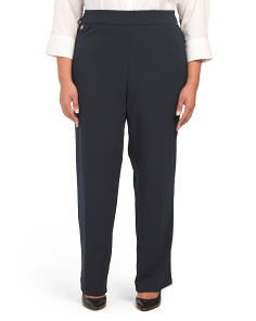 Plus Straight Leg Ponte Trousers