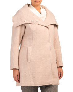 Plus Wool Novelty Coat