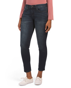 Tribeca Mid Rise Straight Leg Jeans
