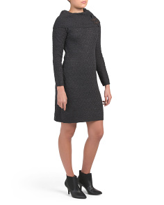 Petite Cowl Neck Sweater Dress