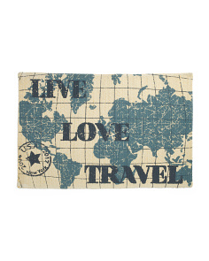 Made In India 24x36 Live Love Travel Rug