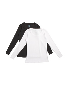 2pk Long Sleeve Tops