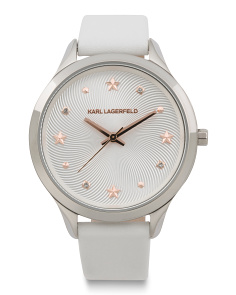 Women's Karoline Leather Strap Watch