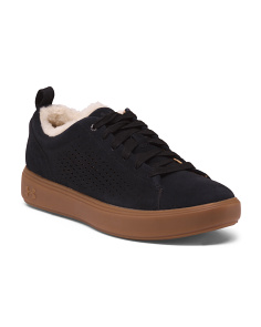 Shearling Lined Comfort Suede Sneakers