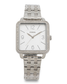 Women's Square Dial Crystal Bezel Shiloh Bracelet Watch