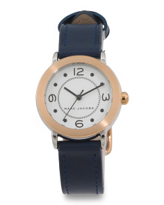 Women's Petite Riley Two Tone Leather Strap Watch
