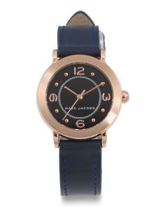 Women's Petite Riley Leather Strap Watch
