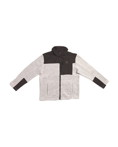 Big Boys Sweater Fleece Jacket