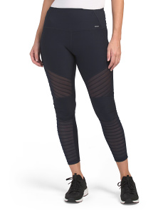 High Waist Moto Leggings With Mesh