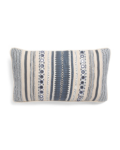 Made In India 14x26 Embroidered Pillow