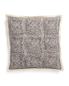 Made In India 18x18 Belgian Linen Luxury Pillow