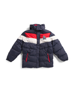 Big Boys Color Block Bubble Jacket