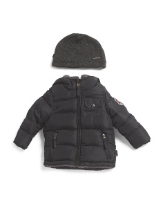 Toddler Boys Reversible Bubble Jacket