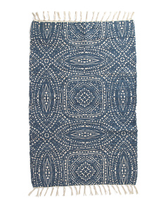 Made In India 27x45 Printed Chindi Rug