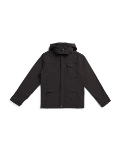 Big Boys Hooded Soft Shell Jacket