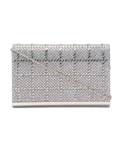 Box Pattern Gem Evening Clutch