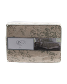 Linen Rose Duvet Set