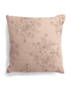 Made In India Linen Blend Euro Pillow