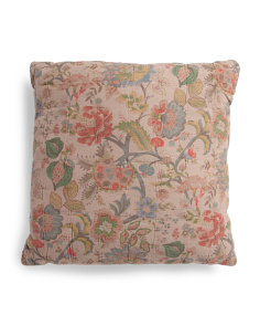 Made In India Linen Blend Luxe Jacobean Euro Pillow