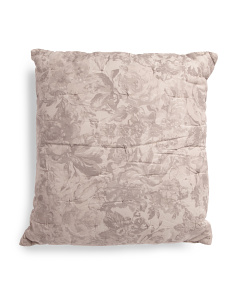 Made In India Luxe Floral Euro Pillow