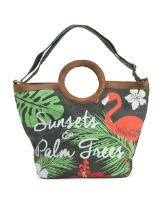 Upcycled Tropical Bliss Tote