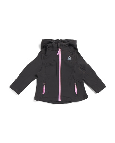 Toddler Girls Hooded Softshell Jacket