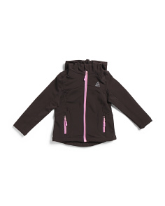 Little Girls Hooded Softshell Jacket