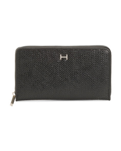 Madeline Textured Zip Around Wallet