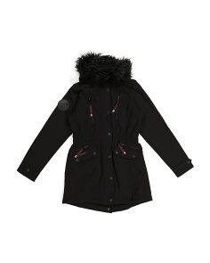 Big Girls Long Softshell Jacket