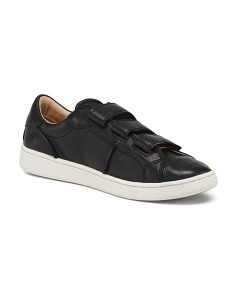 Leather Three Strap Sneakers