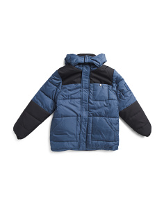 Big Boys Color Block Puffer Jacket
